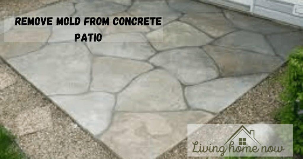 remove mold from concrete patio